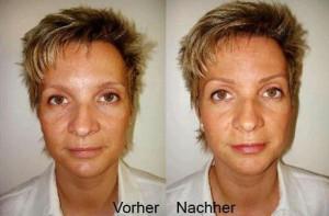 Permanent Make-up vorher nachher